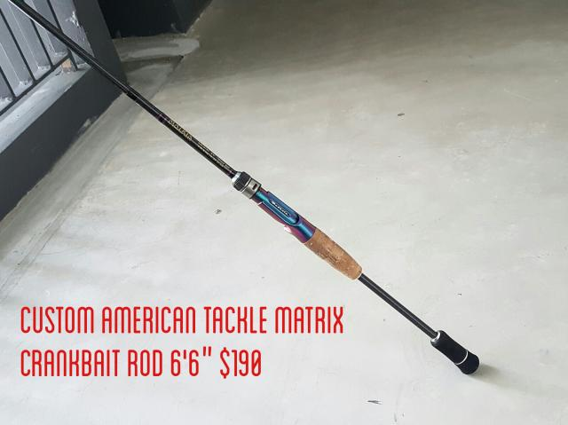 Custom American Tackle Matrix Crank Bait Rod BC 1 pc