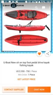 Pedal drive fishing kayak bulk order