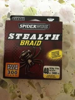 Spider wire stealth braid 40 lb