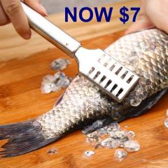 Stainless Steel Fish Scale Remover Tool - Very Efficient!