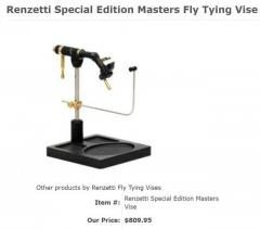 Renzetti Special Edition Masters Fly Tying Vise