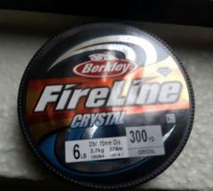 Fireline Crystal braided line - 6 Lbs 300 yards