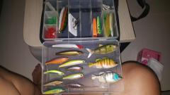 Misc lures and Rapala luring sling bag