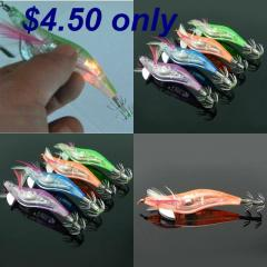 Fishing Lure Squid Jig with Flashing Light - Very Effective!