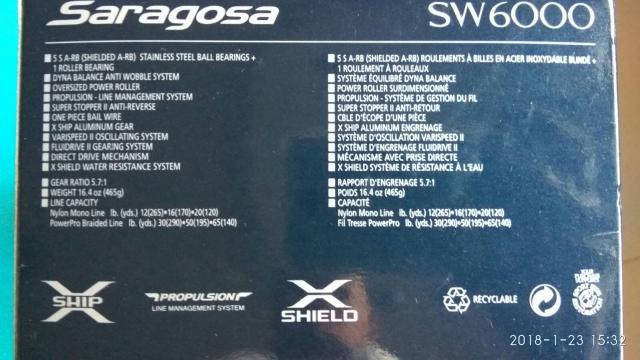 Shimano Saragosa 6000 SW Spinning Reel - FishingKaki com Classifieds
