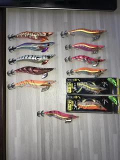 CNY clearance!!!!!Used but looks new sumizoku and yamashita egi jigs