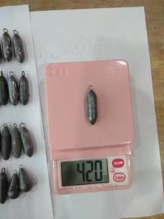 Sinker (42g to 45g) - Size 1J (???) - 60 pcspcs