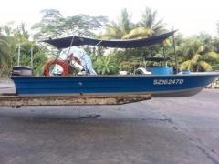Fibreglass boat