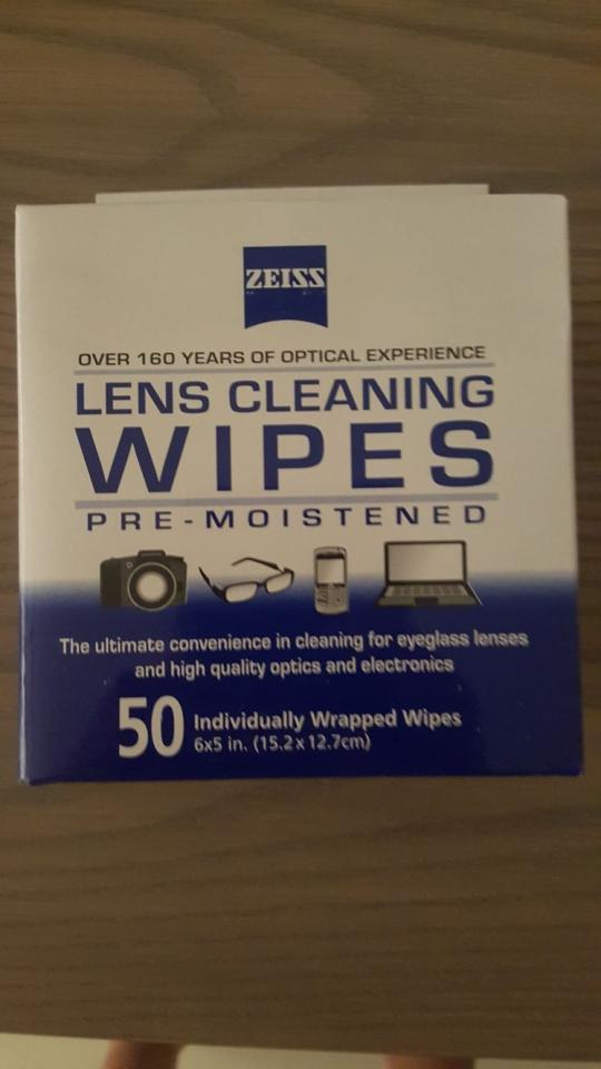 Zeiss Lens Cleaning Wet Wipes (stock available