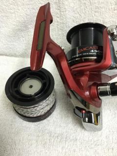 Daiwa Emcast Spory 4500 with spare spool, right hand