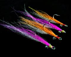 Classic Bucktail Clouser Minnow in Custom Colours Peacock Bass Flies Spinfly Charlies