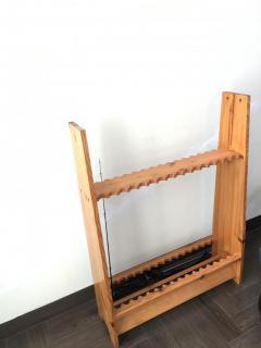 Wooden rod rack