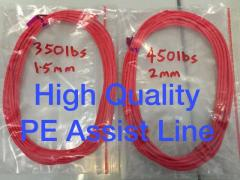 350lbs. 450lbs. Top quality PE Assist Line  For ur jigging hooks.