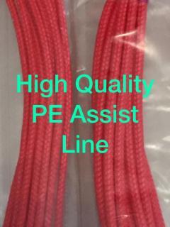 350lbs. 450lbs. Top quality PE Assist Line  For ur jigging hooks.