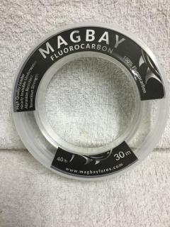 Magbay 100% Fluorocabon leader, 40 lbs x 30m