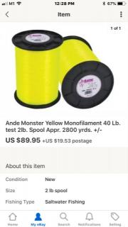 Ande Monster Monofilament Line