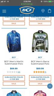 Brand New BCF brand Long Sleeves Fishing Shirt