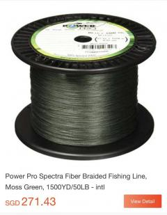 Powerpro 100lbs 1500 yards