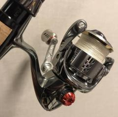 **RESERVED** Livre F.V 35-38 Handle with Fino Knob with matching reel side cap.