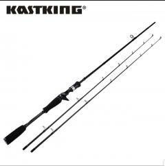 KastKing Cadet Ultralight Carbon Casting Fishing Rod with 2 Rod Tips 1.98m