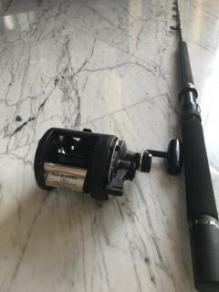 Shimano TLD 30 2 Speed and Beastmaster Triton full roller guide rod