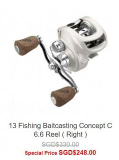 13 Fishing Baitcasting Reels going at special price.