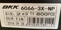 BKK treble hooks 6066 3X NP