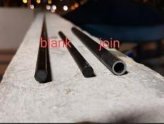Solid carbon fishing rod blank
