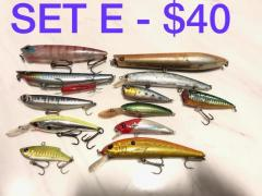 Buy 3 sets, FREE 1 set!! Branded Lures @ $40/set