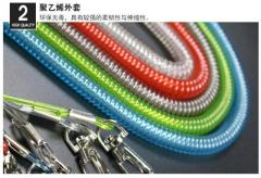 Retractable Wire coil lanyard
